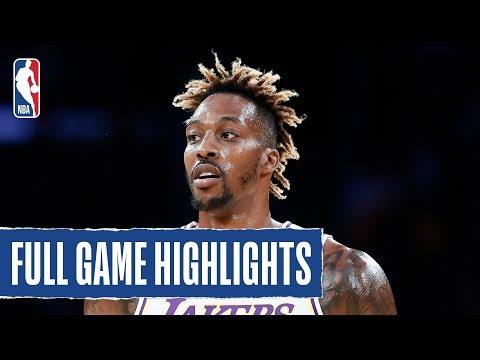 WARRIORS at LAKERS | Dwight Howard Fills The Stat Sheet In W | 2019 NBA Preseason