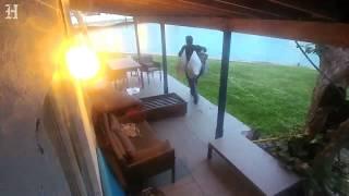 Man caught on surveillance video burglarizing Miami home