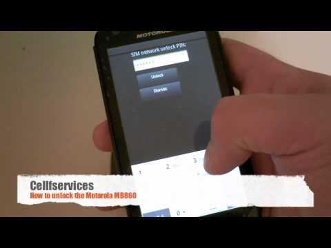 How to Unlock Motorola Atrix 4G (MB860) - AT&T, Bell, Vodafone, T-mobile, O2, Orange, Virgin, Rogers