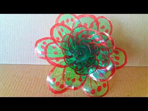 DIY - LIFE HACK : Tutorial Cara Membuat Bunga Mawar dari Botol Plastik Bekas