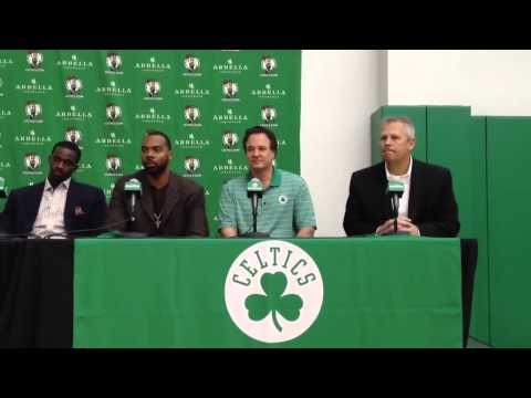 Danny Ainge and Stephen Pagliuca intro Jason Terry