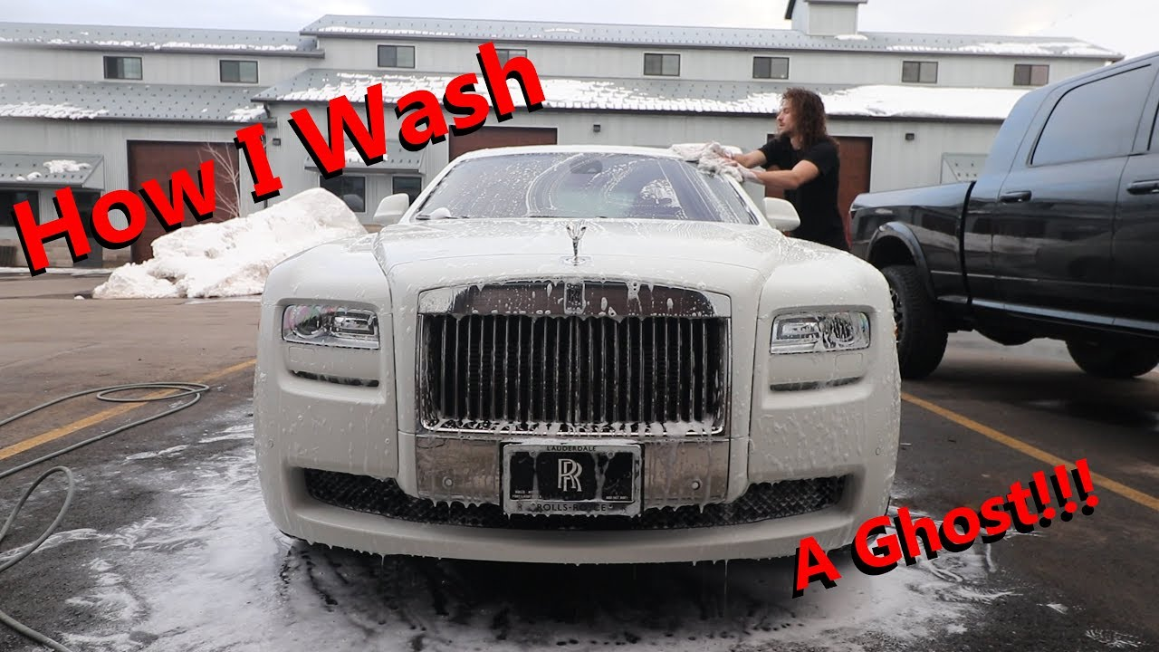 How To Wash A Rolls Royce Ghost Youtube