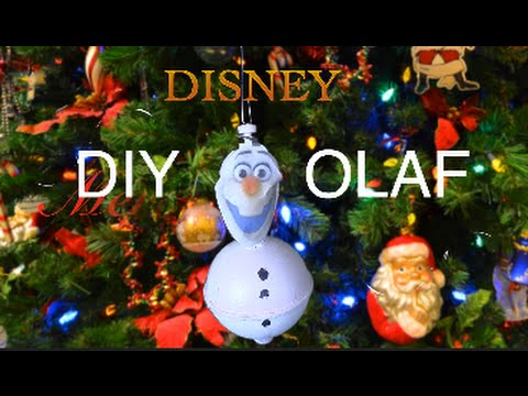 diy olaf christmas tree ornament life hack