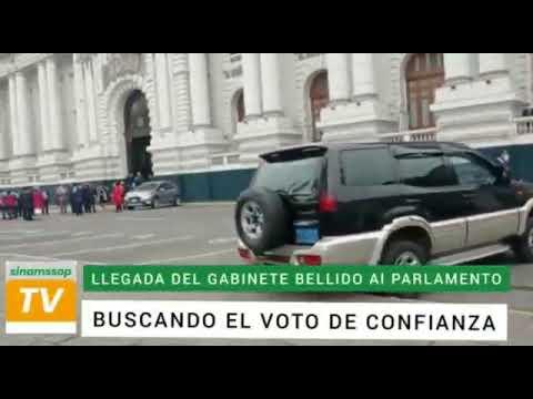 LLEGADA DEL GABINETE BELLIDO AL CONGRESO DE LA REPÚBLICA