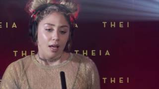 "Theia acoustically performs her hit new single ""Roam"""