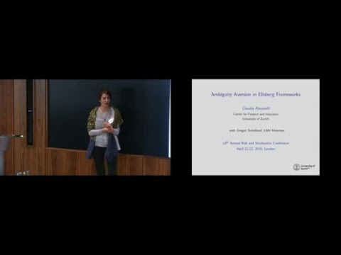 Claudia Ravanelli - Ambiguity Aversion in Ellsberg Frameworks