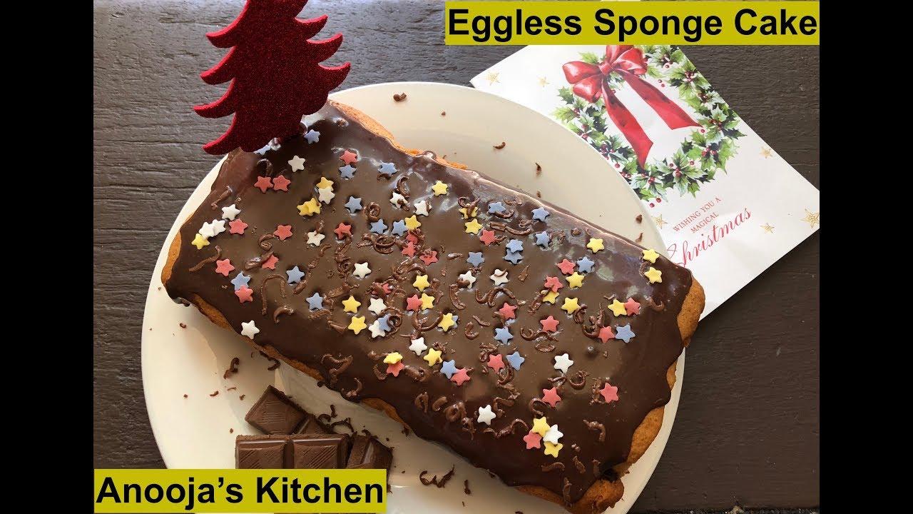 Christmas Special Eggless Sponge Cake I Merry Christmas Themed Cake