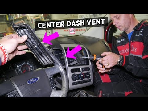 FORD EDGE CENTER DASH AIR VENT REMOVAL REPLACEMENT. AIR VENT BROKEN