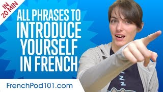 ALL Phrases to Introduce Yourself like a Native French Speaker
