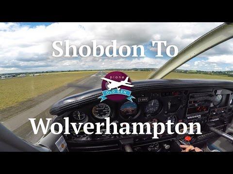 PA28 Shobdon - Wolverhampton Halfpenny Green VFR | ATC Audio