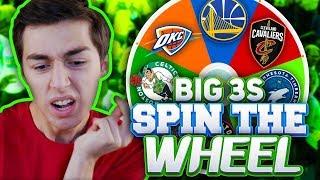 SPIN THE WHEEL OF NBA BIG THREES! NBA 2K18 SQUAD BUILDER
