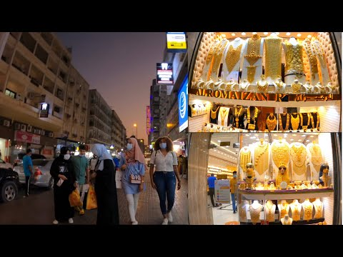 Naif Road Deira Dubai To Gold Souq Busy Friday Evening Walk 4K 2021| سوق الذهب دبي