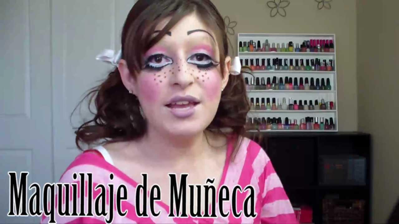 Tutorial de Como Maquillarse como Una Muñeca Bonita/Muñeca Quebrada ...