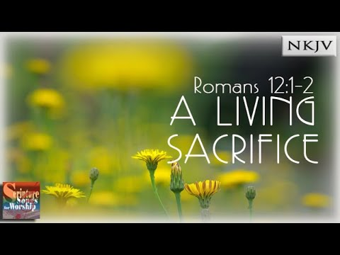 Romans 1212 Song A Living Sacrifice Christian Scripture Praise Worship Song with Lyrics