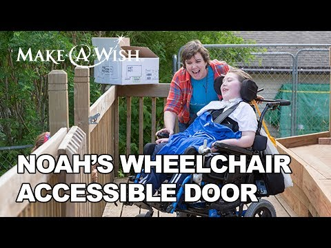 Noah's wish for a Wheelchair Accessible Door | Make-A-Wish® Minnesota