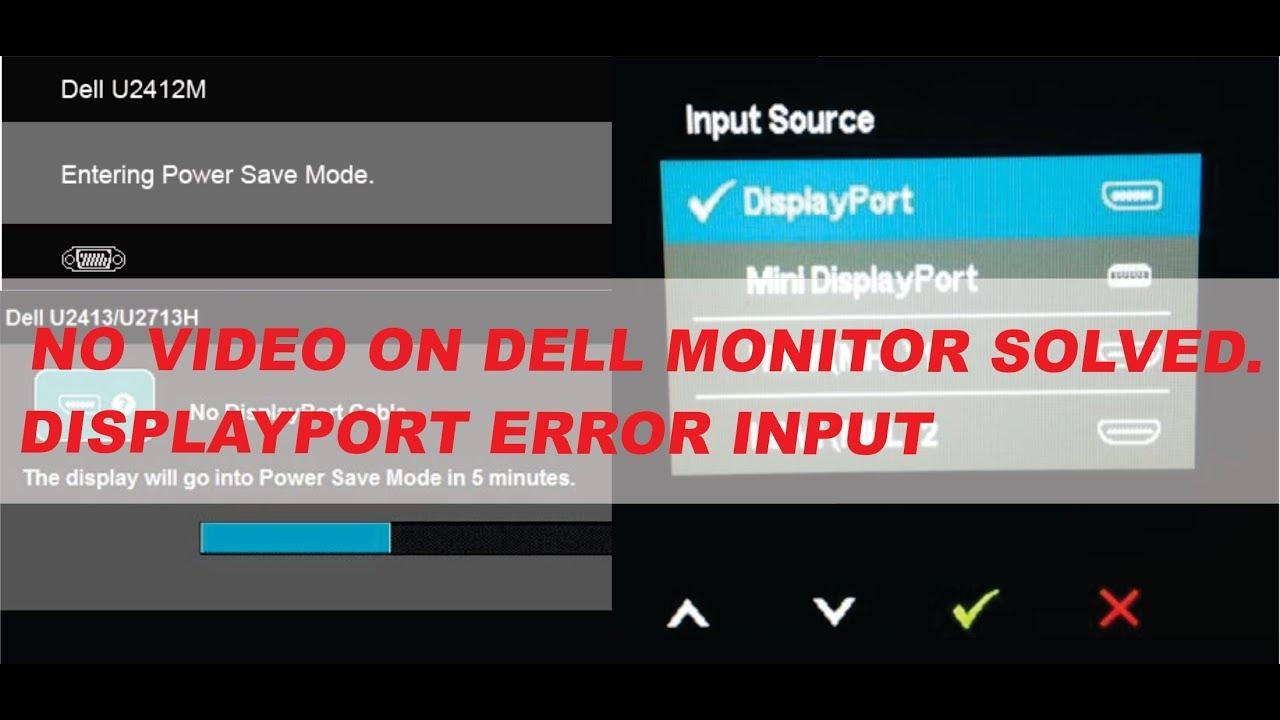 Sem video no monitor da dell resolvido, entrada displayport erro