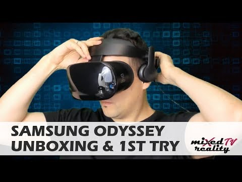 Samsung Odyssey Unboxing & Face-On Review - The Best Windows Mixed Reality Headset Yet?