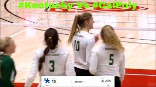7 #Kentucky Vs  23 #CalPoly #WomenVolleyball 2019 720p 30fps H264 192kbit AAC