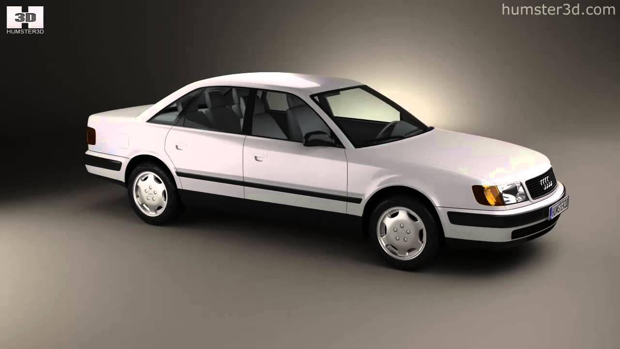 audi 100 c4 sedan 1991 by 3d model store youtube. Black Bedroom Furniture Sets. Home Design Ideas