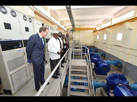 President Museveni commissions Kampala Water Lake Victoria WatSan Project.
