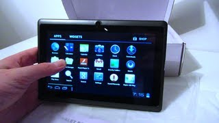 """Video Android 4.0 7"""" £40 Tablet Unboxing A13 All Winner Cortex A8 1.2Ghz download MP3, 3GP, MP4, WEBM, AVI, FLV Agustus 2018"""