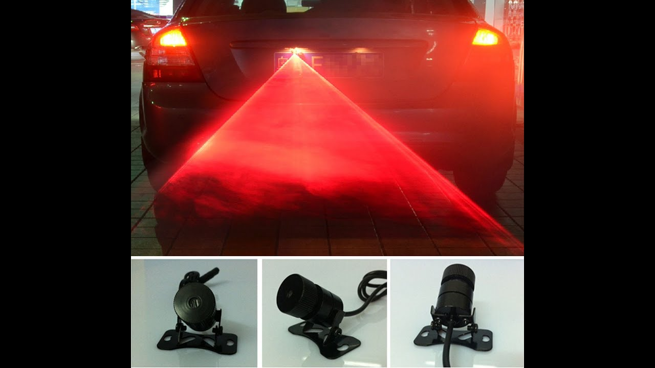 Led Lights For Motorcycle >> ebay / amazon LED Laser Tail Fog Light Review - YouTube