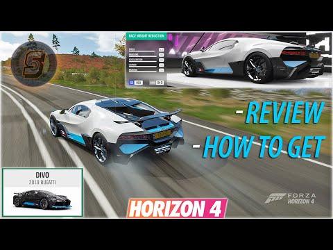 BUGATTI DIVO Forza Horizon 4 How To Get, Review + Upgrade Shop Customization Bugatti Divo FH4
