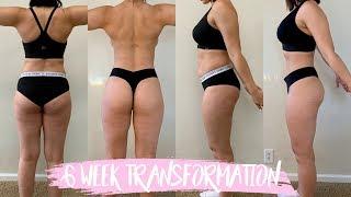 MY 6 WEEK BODY TRANSFORMATION   FITNESS JOURNEY