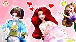 リカちゃん アリエルがハルトくんに恋❤プリンセスのドレスを粘土で手作りして変身⭐どうなっちゃうかな!?おもちゃ 人形 アニメ