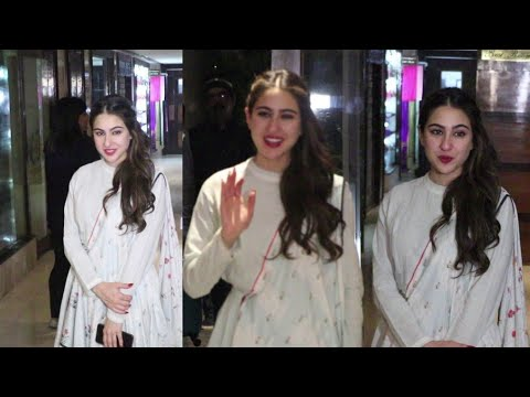 Sara Ali Khan LOOKS GORGEOUS in Traditional Avtaar at Sun And Sand Juhu