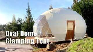 Oval Dome Glamping Tęnt for Sale | Unique Dome Tent_Moxuanju Glamping Tent Hotel