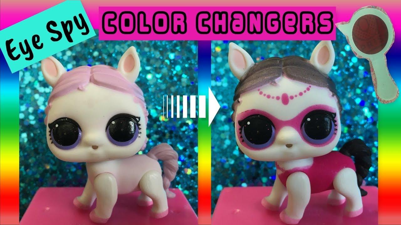 Which Lol Surprise Eye Spy Pets Color Change Eye Spy Pets