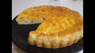 Пирог с плавленным сыром. Нежный вкус!
