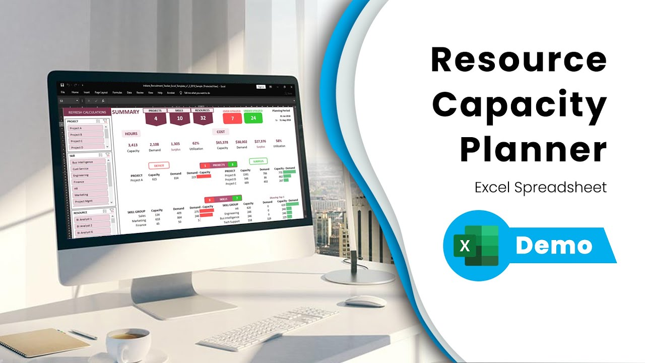 Resource Capacity Planner Excel Template Demo