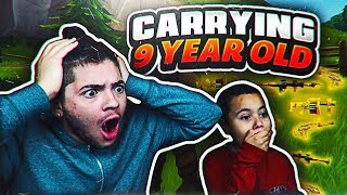 9 YEAR OLD BROTHER GETS CARRIED ON FORTNITE BATTLE ROYALE DUOS! *NEW MAP* FORTNITE FUNNY MOMENTS 😂