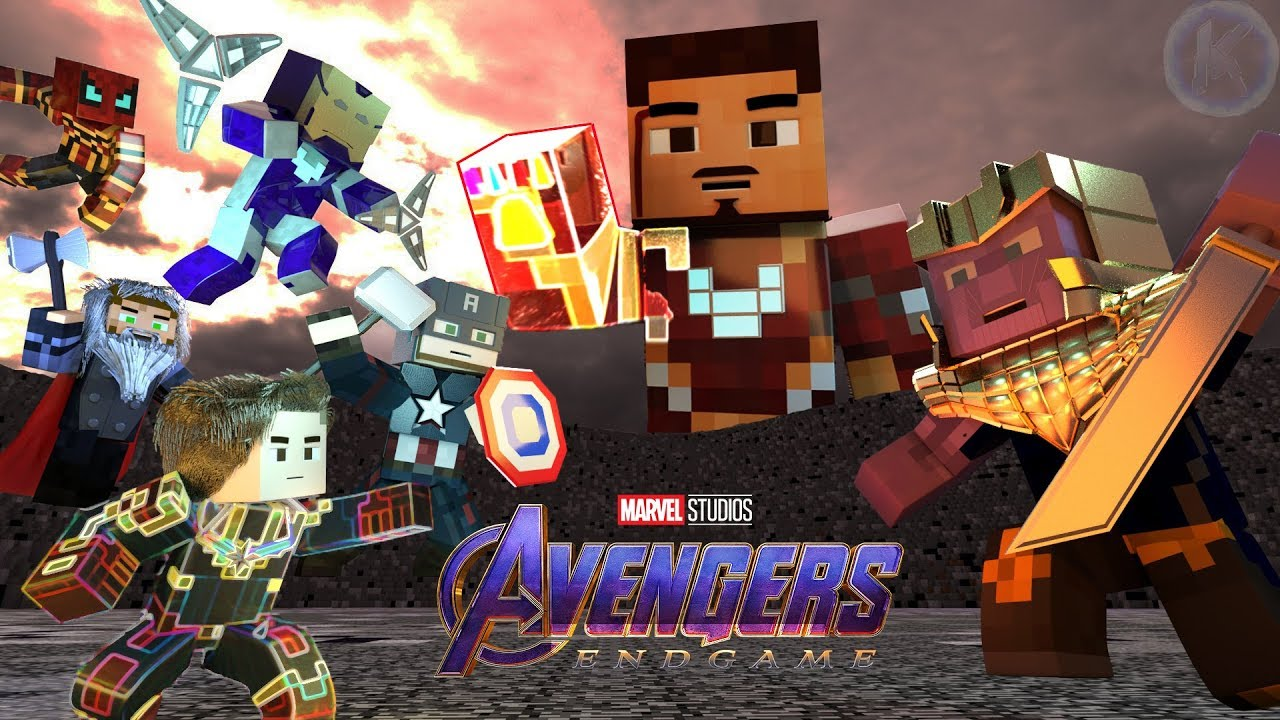 Avengers Endgame Final Battle Highlights Minecraft