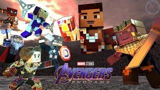 Avengers Endgame Final Battle Highlights Minecraft Animation