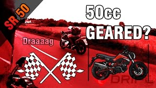 DRAG RACE / FRIEND NEAR MISS / 50CC GEARED BIKES [Vlog #6] (PT.4)