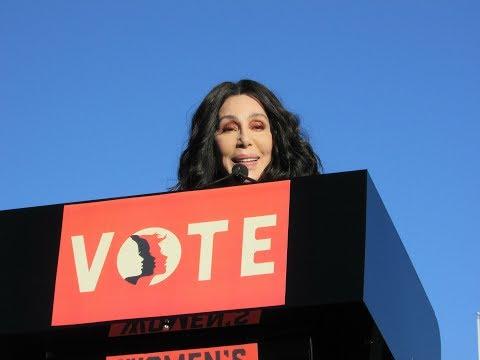 Cher Speech at Women's Day March in Las Vegas
