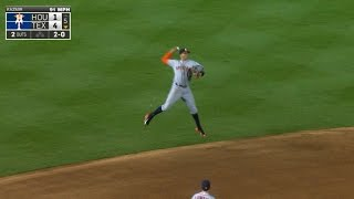 Correa makes pick and fires a jump-throw