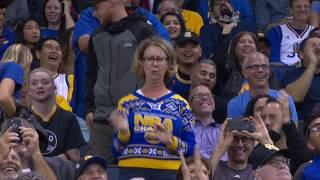Warriors Fan Shows Off Her Dance Moves In Oakland!