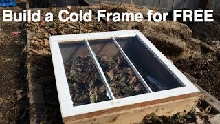 How to build a Cold Frame For FREE!! in the Alberta Urban Garden