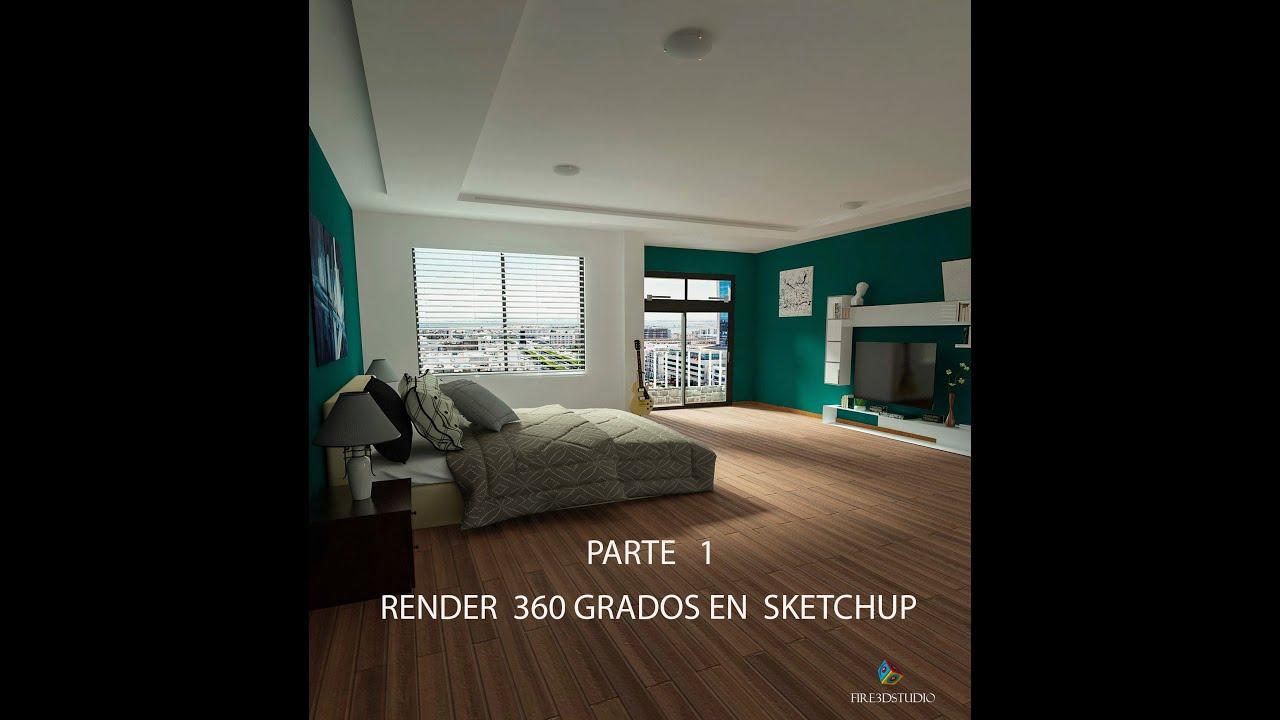 Como hacer render 360 en sketchup youtube for Render casa minimalista