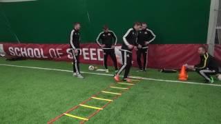 Упражнения на ведение мяча