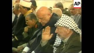 GAZA: ARAFAT MEETS TURKISH PRESIDENT DEMIREL (2)
