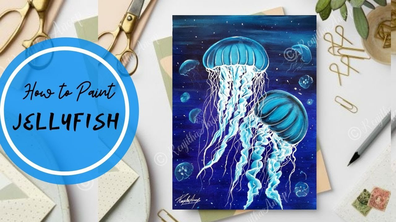 Step By Step Acrylic Painting For Beginners On Canvas Underwater Painting Ideas Youtube