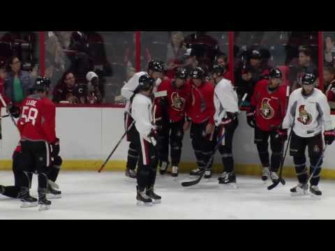 Fight breaks out between Senators after MacArthur takes huge hit