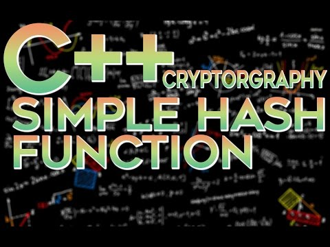 C/C++ Cryptography — Simple Hashing Algorithm | Simple Hash Function