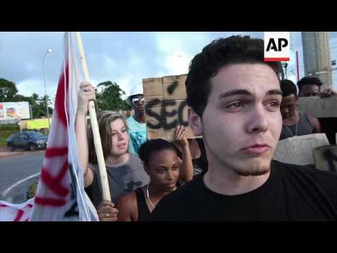 French Guiana protest over crime, unemployment