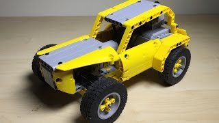 Yellow Buggy - Tiny, Robust and Fast LEGO RC Car